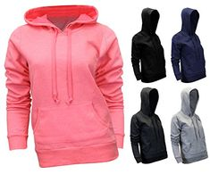 Enimay Womens Cold Weather Colored Thick Material Athletic Hooded Sweatshirt *** Want to know more, click on the image.