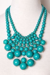 Make A Statement Necklace | Peacock Plume