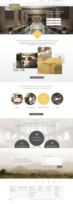Hyatt Gold Passport Page on Behance