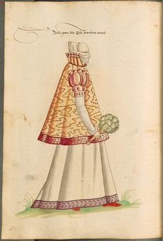 An Italian woman, c.1550-1575, from Costumes of men and women in Augsburg and Nuremberg, Germany, Europe, Orient and Africa