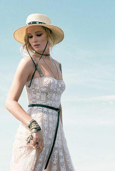 Jennifer Lawrence photographed by Stas Komarovski for Dior