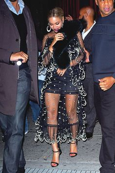 Beyoncé & Jay Z at the SNL after party at Il Bastardo restaurant on November 5, 2016 in New York City.