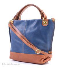 Torebka niebiesko-brązowa z nowej kolekcji 2014. W całości wykonana ze skóry naturalnej. http://torebki-damskie.eu/skorzane/420-niebiesko-brazowa-torebka-z-miekkiej-skory-naturalnej.html #moda #torebki