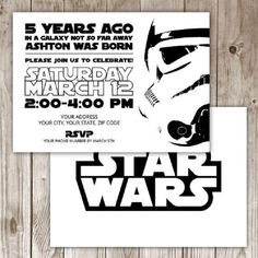 Star Wars Online Invitations Star Stuff T Star Wars Party