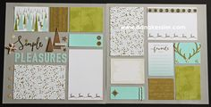 Two Page Scrapbook Layout Oh Deer Winter Birthday Outdoors Snow Magical travel camping