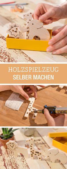 DIY KInderspielzeug: Holztiere einfach gravieren mit Werkzeugen von Dremel / diy project for wooden kids toys with easy tools via DaWanda.com #dawandaandfriends
