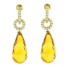 yellow gem earrings...