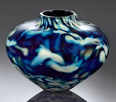 Cloud Series Urn by Jacob Pfeifer: Art Glass Vase available at www.artfulhome.com