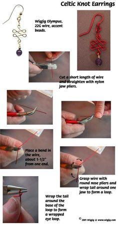 Celtic knot earrings tutorial by azibrn