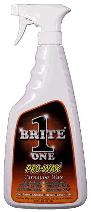 Brite 1 Show Quality Spray Wax, 20 oz - BRITE 1 SHOW QUALITY SPRAY WAX - White's Pit Stop Harley Davidson Gifts, Performance Parts, Spray Bottle, Cleaning Supplies, Cleaning Agent, Airstone
