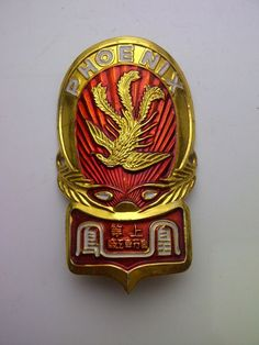 1 Pc Vintage PHOENIX Bicycle Head Badge Bike emblem logo Rare NOS BSA Raleigh in Collectibles, Transportation, Bicycles | eBay
