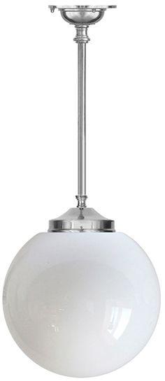 Badrumslampa - Ekelundspendel 100 (F) stor klotskärm