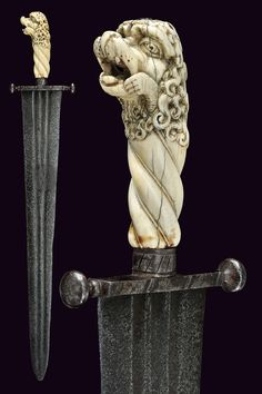 An interesting short-sword with carved handle                                                     category:     A Selection of Fine Arms I                    provenance:     Italy                    dating:       16th Century