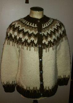 cb928a933910 Vintage hilda ltd 100% wool iceland arctic icelandic ladies m cardigan  sweater