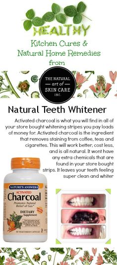 Natural Teeth Whitener http://thenaturalartofskincare.ca/