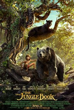The Latest Poster For Disney's 'The Jungle Book' Finally Reveals Mowgli, Bagheera and Baloo! - moviepilot.com