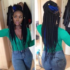 Love the blue & black box braids