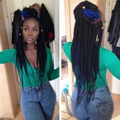 Love the blue & black box braids