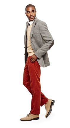 office holiday party – wool sportcoat and stafford oxfords