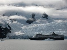 "The Veendam ""somewhere in #Antarctica."""