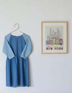 Boohoo bicolor denim dress
