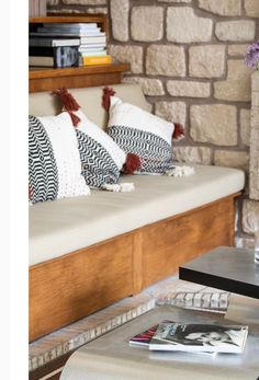 Bench, Throw Pillows, Storage, Furniture, Home Decor, Purse Storage, Toss Pillows, Decoration Home, Cushions