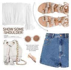 """Off Shoulder Top - Show Some Shoulder"" by fashion-bea-16 ❤ liked on Polyvore featuring Sans Souci, Rebecca Minkoff, Glamorous, House of Holland, Elina Linardaki, contest, polyvorecontest and showsomeshoulder"