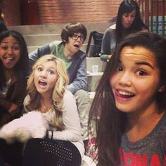 """Pic: Paris Berelc With Some Of Her """"Mighty Med"""" Castmates November 13, 2013"""