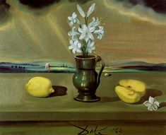 """Salvador Dali - Untitled (""""Still Life with Lilies"""") (oil on canvas, 1963)"""
