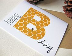 Birthday Card, Cute Card, Bumblee, Bee Card Inspired by Dodeline Design