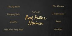 """Some notes and figures from the 88th Academy Awards nominations. The big film of the morning was """"The Revenant"""" with 12 Oscar nominations. (The record for the most Oscar nominations is 13.)"""