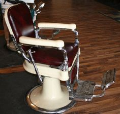 Vintage Barber Chair   My DAD Was A Barber   Gave The Best Hair Cuts Ever