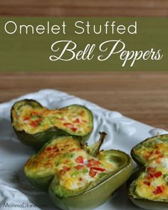 Omelet Stuffed Bell Peppers. This recipe gives a unique twist on the traditional omelet - Texas Style!  #LoneStarEggs
