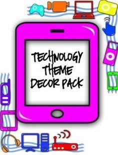 technolog theme, upper grade, grade teacher, classroom decor, technology for the classroom, technology school themes ideas, technology classroom theme, technology theme classroom, technology themed classroom