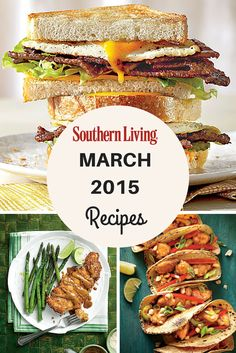 March 2015 Recipe List | Find all the recipes from the March 2015 issue of Southern Living magazine.