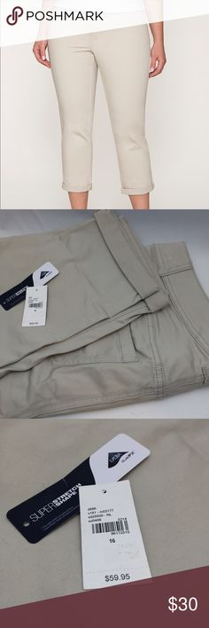 Genius  Fit Khaki Capris Brand new with tags (but they got ripped off while trying on), never worn other than trying on, super cute! Lane Bryant Pants Capris