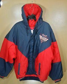 Atlanta Braves MLB Red and Blue Logo 7 Genuine Merchandise Jacket Sz XL #Logo7 #AtlantaBraves