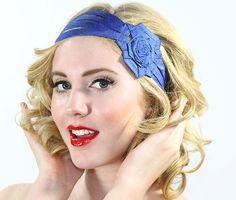A personal favorite from my Etsy shop https://www.etsy.com/listing/162424265/big-flower-headwrap-blue-headband