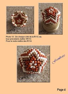 A tutorial for a beaded bead, in French, but there are enough photos to follow.
