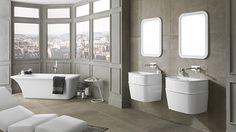 Minimalist luxury #bathrooms with the freestanding #bathtubs by @NokenDesign #interiordesign #bathroomequipment