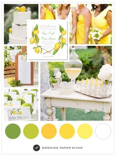 Citrus details for your summer wedding. Drink up the summer vibes with lemony fresh accents from subtle to bold. Bouquet: @modwedding