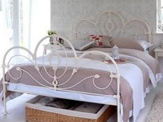 Bedroom Ideas with Classical Metal Bed Frame