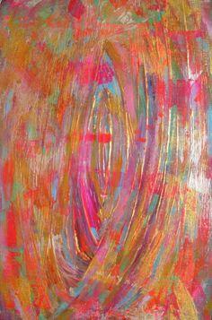 Moderna pintura abstracta colorida Original de por Jimarieart