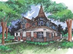 Queen+Anne+House+Plan+with+4124+Square+Feet+and+5+Bedrooms+from+Dream+Home+Source+|+House+Plan+Code+DHSW28379