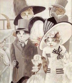 My Fair Lady (Rex Harrison & Audrey Hepburn) by Susan Herbert from Movie Cats