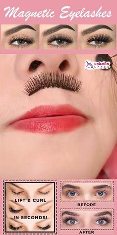 Beauty Makeup Tips, Eye Makeup, Beauty Hacks, Hair Makeup, Hair Beauty, Beauty Secrets, Eyelash Kit, Long Lasting Curls, Magnetic Eyelashes