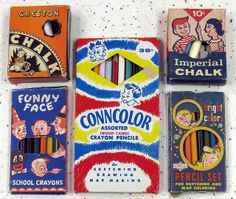 Vintage children's art supplies