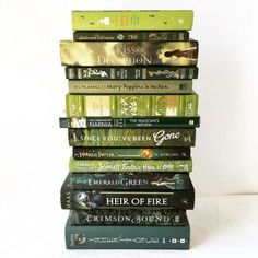 I Like To Take Pictures Of Good Books — apagewithaview: Green books! Fantasy Books To Read, Best Books To Read, Ya Books, I Love Books, Good Books, Library Books, Green Books, World Of Books, Books For Teens