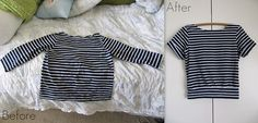 DIY-ED Before and After: Altered Striped Shirt