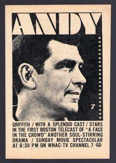1964 Wnac TV Ad Andy Griffith Shindig Ozzie Harriet Patty Duke Burke's Law | eBay